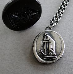 hope Sustains..... lady and anchor wax seal by SWALKDESIGNS, $60.00
