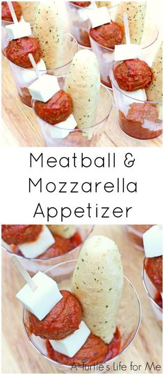 meatball and mozzarella appetizer skewers are the perfect addition to your holiday party