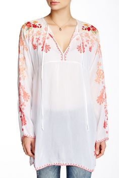 Embroidered Long Sleeve Blouse by Johnny Was Johnny Was Clothing, Garden Art, Sewing Ideas, Tunic Tops, Blouse, Long Sleeve, How To Wear, Clothes, Women