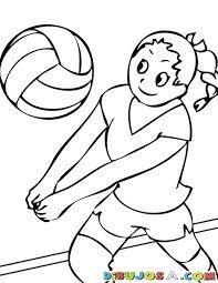 imagenes de balon de voleibol para colorear