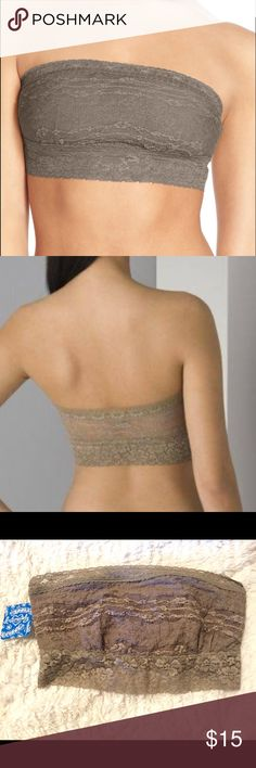 Free People Taupe Bandeau Free People Taupe Bandeau.  Wear it to layer or under a sheer shirt as a cover up.  Brand new with tags retail. Free People Intimates & Sleepwear Bandeaus