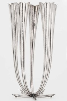 Silver candelabra designed by Josef Hoffman for the Wiener Werkstätte