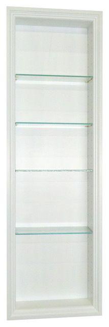 "$279.99 - 49.5in H - "" Recessed In-The-Wall Oakland Niche-White contemporary-medicine-cabinets"
