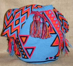Mochilas bags that are made by the Wayuu people of Colombia and Venezuela