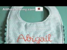 Make a Hand Embroidered Baby Bib. Follow the #video #tutorial and the written instructions to make this special handmade gift. #sewing