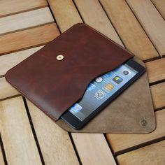 Leather  ipad Air case  iPad Air sleeve  iPadair door iLeatherStore