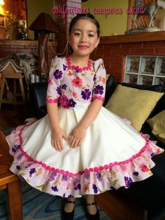 Vestidos de cueca Old And Teen, Girls Bedroom, Pretty Dresses, Daisy, Kids Fashion, Fashion Dresses, Summer Dresses, How To Wear, Outfits