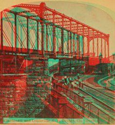 Cincinnati and Louisville R. R. bridge, Cincinnati. 1865?-1895?