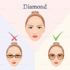8f0e968b95 Image result for glasses for diamond face shape  EyeMakeupEasy Diamond Face  Shape Glasses