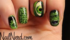 Incredible Hulk Nails