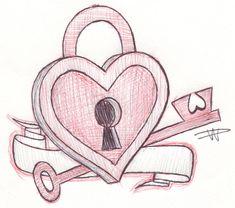 heart sketch key drawings deviantart drawing sketches hearts him lock keys pencil cool cartoon choice pink reading thanks