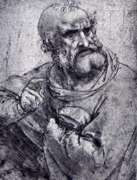 Ser Piero da Vinci, drawing by his son Leonardo da Vinci