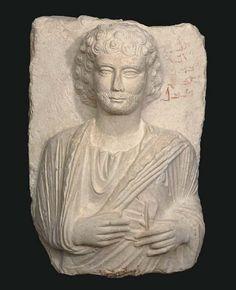 A PALMYRENE LIMESTONE BUST OF A MAN CIRCA MID 2ND CENTURY A.D.