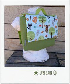 Cartable maternelle vert  -forêt-