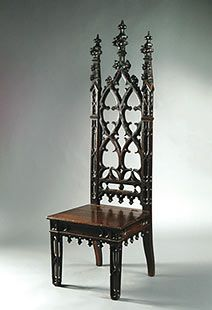 Gothic Hall Chair 1850 During the Victorian era, many historic styles were revisited.