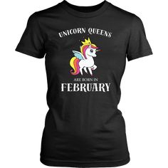 Queen Are Born In February Feb Birthday T-Shirt for Women