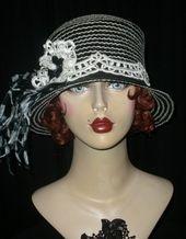 vintage hats, Graceful Butterfly HATS II