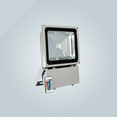 color changing RGB, intelligence remote-control available, COB LED with high brightness, aluminum die-case housing, air convection cooling , stand attached