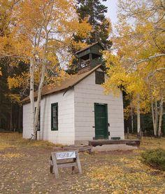 Old La Veta Pass Church (Huerfano County, Colorado) on160 between Fort Garland and La Veta