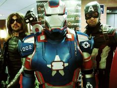 Iron patriot the superheroes cosplay at the weekend