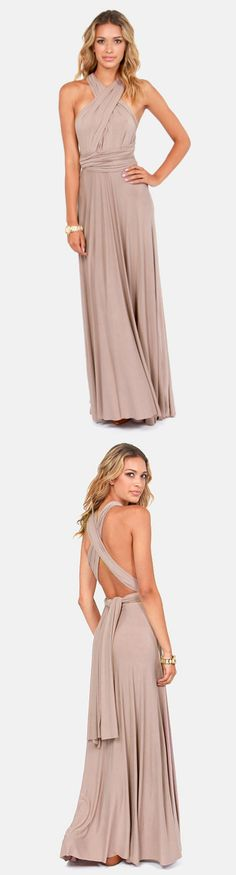Infinity Maxi Dress via lulus.com. Oh the possibilities!