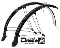 Fahrrad-Schutzblech-Set-26-60mm-Schutzbleche-schwarz-Kontaktierung-Ruecklicht