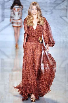 Androgynous Gypsy Fashion: Gucci Fall 2008 Collection in Milan