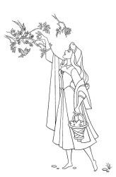 Princess Aurora coloring page Princess Aurora