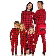 WensLTD Family Matching Christmas Red Happiness Elk Pattern ...