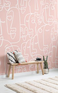 Pink wallpaper is very hot in the interior design world, and with added textures and design features they create amazing accent walls in any room of the home. The pink feature wallpapers are bright and fun, but stylish and when paired with modern, minimalistic furniture and accessories, they form truly inconic spaces.