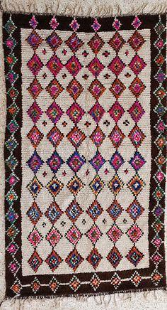 AZ16251+natürliche+Wolle+Teppich+AZILAL+Vintage+von+BOUCHEROUITE,+$660.00