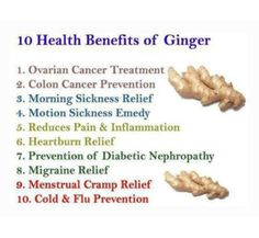Health benefits of Ginger ❥➥❥ ovarian cancer treatment, colon cancer prevention, prevention of . Health Facts, Health Tips, Health And Wellness, Health Care, Simply Health, Health Book, Health Quotes, Nutrition Tips, Mental Health