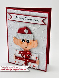 Splotch Design - Jacquii McLeay Independent Stampin' Up! Demonstrator: Punch Art Christmas Elf Card