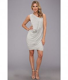 Look sporty-chic in this standout DKNYC™ dress! Fabricated from a comfortable stretch knit. Sporty Chic, Draped Dress, White Dress, Formal Dresses, Shopping, Clothes, Color, Free Shipping, Style