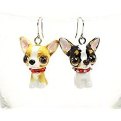 Handmade Pet in your ear USA Earrings Photojewelry Chihuahua
