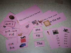 Free printable Pink level Montessori manipulatives.