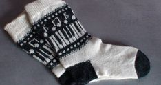 "Knitted socks, music pattern ""Music on your feet"" I had long time ago to do the socks with music marks: notes, piano etc. Finally I could. Wool Socks, Knitting Socks, Free Knitting, Winter Knitting Patterns, Shawl Patterns, Crochet Music, Drops Design, Knit Socks, Tights"