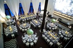 Past CIC wedding: I like the mix of round and rectangular tables :)
