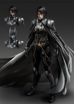 Cassandra Cain Batgirl - Injustice style by katmachiavelli female cyberpunk superhero batman cape armor clothes clothing fashion player character npc | Create your own roleplaying game material w/ RPG Bard: www.rpgbard.com | Writing inspiration for Dungeons and Dragons DND D&D Pathfinder PFRPG Warhammer 40k Star Wars Shadowrun Call of Cthulhu Lord of the Rings LoTR + d20 fantasy science fiction scifi horror design | Not Trusty Sword art: click artwork for source