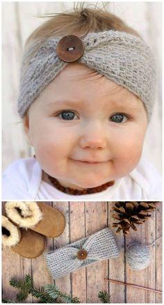 """Crochet """"Aspen Socialite"""" Free Headband Pattern - 46 Free Crochet Headband Patterns to Try This Weekend - DIY & Crafts"""
