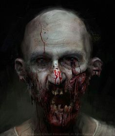 """Zombie"" by Morgan Yon Arte Zombie, Zombie Art, Dead Zombie, Zombie Pics, Arte Horror, Horror Art, Horror Movies, Zombies, Creepy Art"