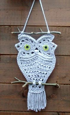 Image detail for -Crochet Owl Pattern PDF Macrame Style Crochet by UniqueEarthling