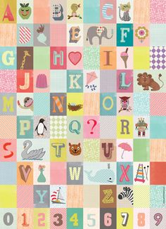 Alphabet wrapping paper - Make into an alphabet picture frame  #illustration #draw #design
