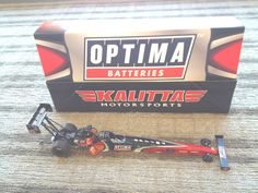 This 1/24 scale model of David Grubnic's @Team Kalitta #TopFuel dragster is just one of 750. We'll be giving it away to one lucky member of OPTIMA's Power Pack Nation the first week of September 2013. Sign up here- www.powerpacknation.com