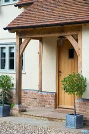 Front Porch Canopy Ideas Best Door Canopy Ideas On Front Door Awning Front Within The Awesome Front Door Canopy Pertaining To Current House Deck Ideas For Small Houses Front Door Overhang, Front Door Porch, Front Door Entrance, House Entrance, Porch Oak, Porch Timber, Front Doors, Front Porches, Front Door Canopy