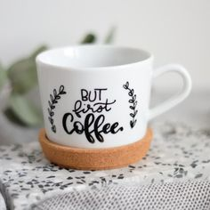 but first coffee – hand lettering from belettert.at for letter lovers but first coffee – hand lettering from belettert.at for letter lovers Diy Mother's Day Crafts, Mother's Day Diy, Mothers Day Crafts, Coffee Art, Coffee Mugs, Design Your Own Mug, Paleo Meal Plan, Diy Letters, But First Coffee