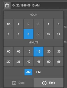 Hi, everyone! We've added a handy picker to the Date/Time field in Collections, so you and your content editors don't have to type in dates and times anymore.   Here's the date picker:  [image]  And the time picker:  [image]  To use the picker, just click the calendar icon next to the Date/Time field when you're creating a new Collection Item.
