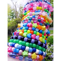 40 Kandi Random singles lot wholesale 40 bracelets rainbow neon rave... ($18) ❤ liked on Polyvore featuring jewelry, bracelets, accessories, pictures, rainbow, glow in the dark jewelry, star bangle, beaded bangles, star jewelry and beaded jewelry