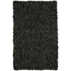 Chandra Rugs Art Black Shag Rug - ART3601