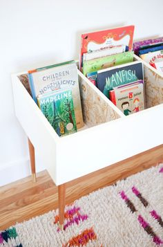 Awesome DIY Kids Book Bin Projects | Home Design And Interior